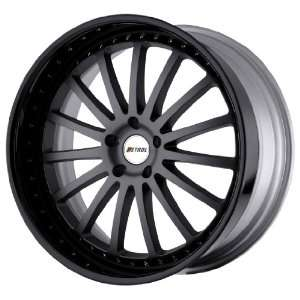 Petrol Wheels Faust Matte Gunmetal Wheel with Gloss Black