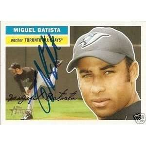 Miguel Batista Signed Blue Jays 05 Topps Heritage Card