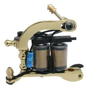 Handmade GOLDEN HYBRID Tattoo Machine Liner Shader GUN