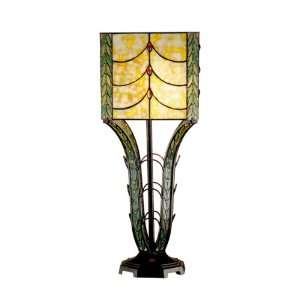 Dale Tiffany TT101006 Calver Table Lamp, Antique Bronze and Art Glass