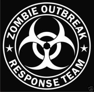 Zombie Outbreak Response Team Vinyl Decal Sticker