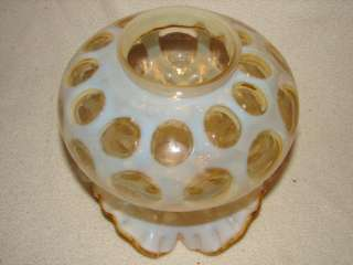 FENTON HONEYSUCKLE OPALESCENT COIN DOT SHADE