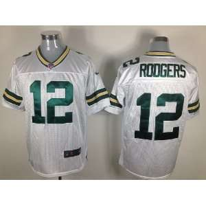 #12 Aaron Rodgers White Men Jerseys Size 44l