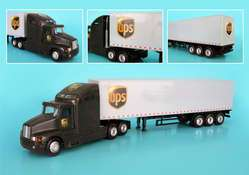 ups guy or girl kenworth ups semi truck and trailer 1 64 scale