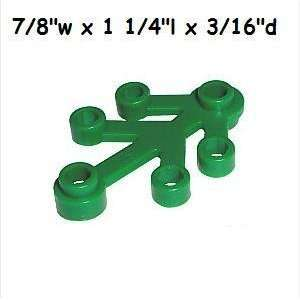LEGO Green Tree Leaves 10 Pieces Per Pack Toys & Games