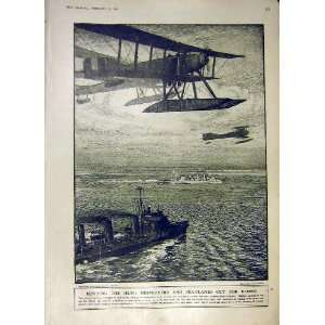 Hunting Germans Sea Plane Destroyer Sea Ww1 1918