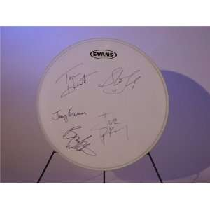 Aerosmith Autographed/Hand Signed Drumhead Sports