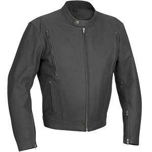 River Road Alloy Vented Leather Jacket   54/Matte Black