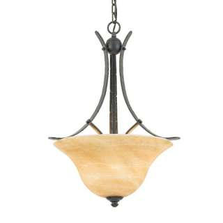 Grey Bronze 3 Light Hanging Pendant/Chandelier