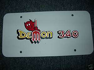 1970 1971 1972 DODGE DART DEMON 340 LICENSE PLATE