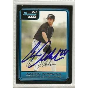 Aaron Wideman Signed Card 2006 Bowman Prospects