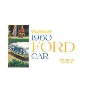 1960 FORD Car Full Line Owners Manual User Guide