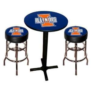 Illinois Fighting Illini Pool Hall/Bar/Pub Table   Black