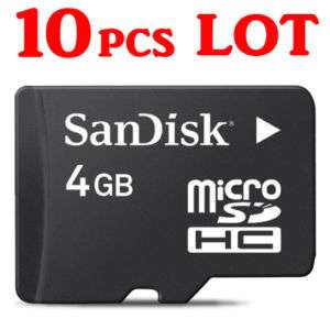 10pcs LOT 4GB 4G microSD micro SD San Disk Memory Card