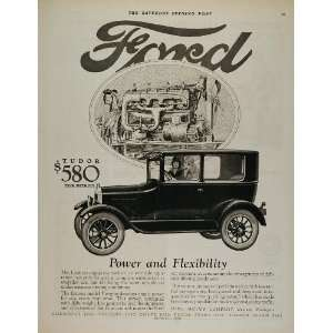 1926 Ad Ford Model T Tudor Sedan Vintage Car Engine