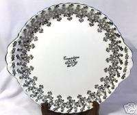 ROYAL ALBERT 25TH ANNIVERSARY CAKE PLATE BONE CHINA