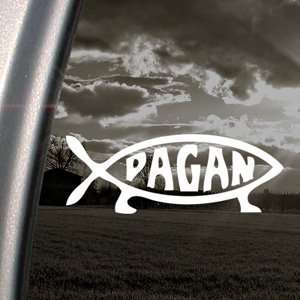 Pagan Fish Religion Decal Car Truck Window Sticker