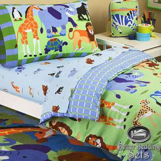 Baby Boy Kid Toddler Animal Jungle Safari For Crib Nursery Comforter