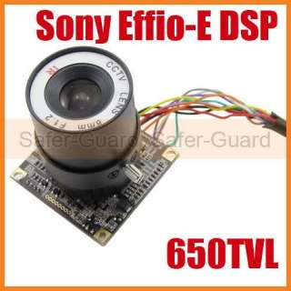 650TVL OSD SONY Effio DSP SONY CCD Board Camera 8mm
