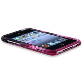 White Pink+Purple Hard Heart Skin Case For iPod Touch 4 4th Gen 4G