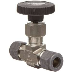 Parker V Series Stainless Steel 316 Needle Valve, Inline, Hand Wheel