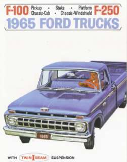 FORD TRUCK 1965 Sales Brochure 65 Pick Up
