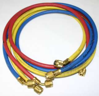 Yellow Jacket 49805 Manifold Gauge and Hose Set is used in good