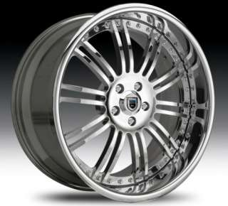 20 Asanti AF128 Chrome Wheels Rims 3 Piece