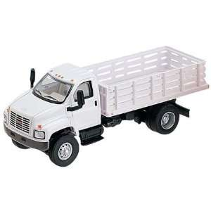 HO Scale GMC Open Stake Bed Truck White 3007 77 Toys & Games