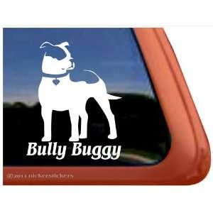 Bully Buggy ~ Pit Bull Terrier Dog Auto Vinyl Window Decal