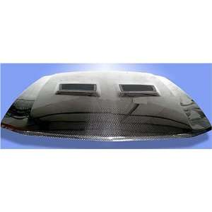 IPP 05 06 07 08 FORD MUSTANG CARBON FIBER HOOD SHELBY GT500 STYLE WITH