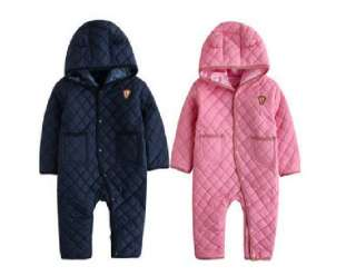 ) Baby Boy Girl Winter PINK NAVY Colour Bodysuit / Toddler/ Snowsuit
