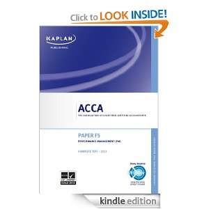 ACCA Complete Text   F5 Performance Management Kaplan Publishings