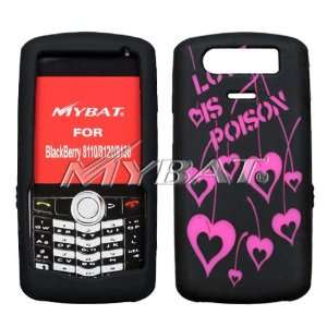 Blackberry 8110, 8120, 8130 Laser Love Poison (Hot Pink/Black) Skin