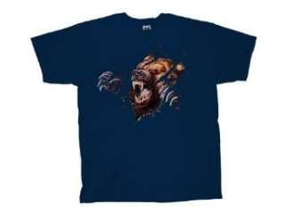 Grizzly Bear T Shirt Grizzly Shred Rip Through Clothing