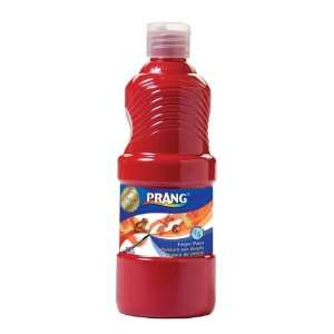 Prang Washable Finger Paint, 16 Ounce Bottle, Red (41601