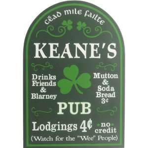 Irish Pub Personalized 16x11 Davis & Small Everything