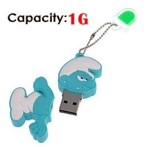 1G Rubber USB Flash Drive with Shape of Angry Smurfs Electronics