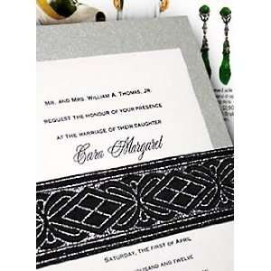 Wedding Invitations Kit Metallic Silver with Deco Wrap