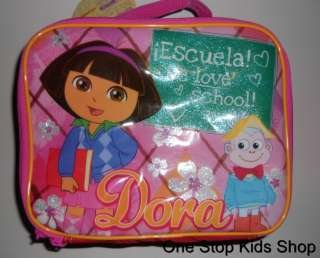 DORA THE EXPLORER Nickelodeon LUNCH BOX Bag Tote BOOTZ