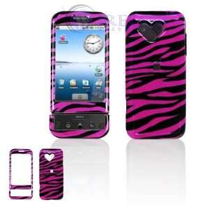 HTC Google G1/Dream Cell Phone Hot Pink/Black Zebra Design
