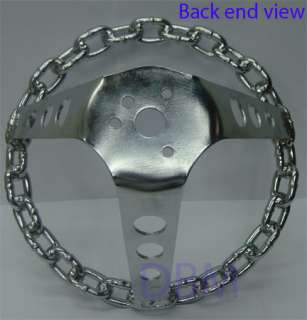 brand new grant chrome chain link steering wheel brand grant diameter