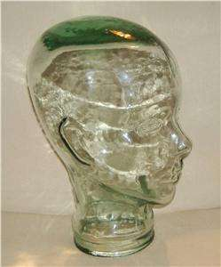 VINTAGE ~ CLEAR GLASS HEAD ~ DECORATIVE MANNEQUIN DISPLAY