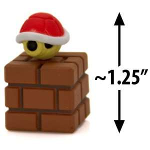 com Red Koopa Shell on a Brick Block ~1.25 Mini Figure [Super Mario
