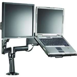 com Chief KGL220 Height Adjustable Monitor Laptop Dual Arm Desk Mount