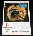1945 old wwii magazine print ad ford infra red rays paint drying