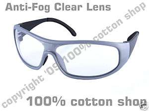 Safety Glasses Specs Anti Mist Fog Clear Lens MTB cycle