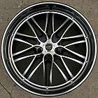 RUFF RACING 947 22 BLACK RIMS WHEELS BMW 645 650 CAPRI