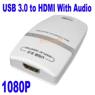 USB3.0 TO HDMI DVI Multi Display Graphics Adapter 1080P Windows7 64