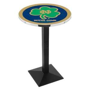 42 Notre Dame Shamrock Bar Height Pub Table   Square Base